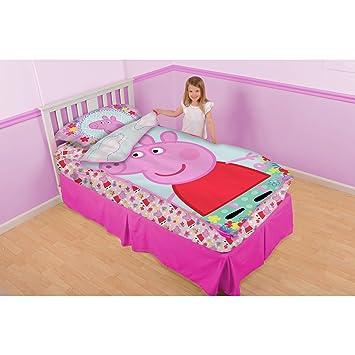 Peppa Pig Kids 3 Piece Play Zip It Bedding Toddler Girls Twin Size Set