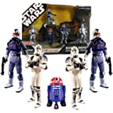 Star Wars 30th Anniversary Battle Pack ARC 170 ELITE SQUAD with 5 Action Figures Exclusive Purple R2 Astromech Droid R4…