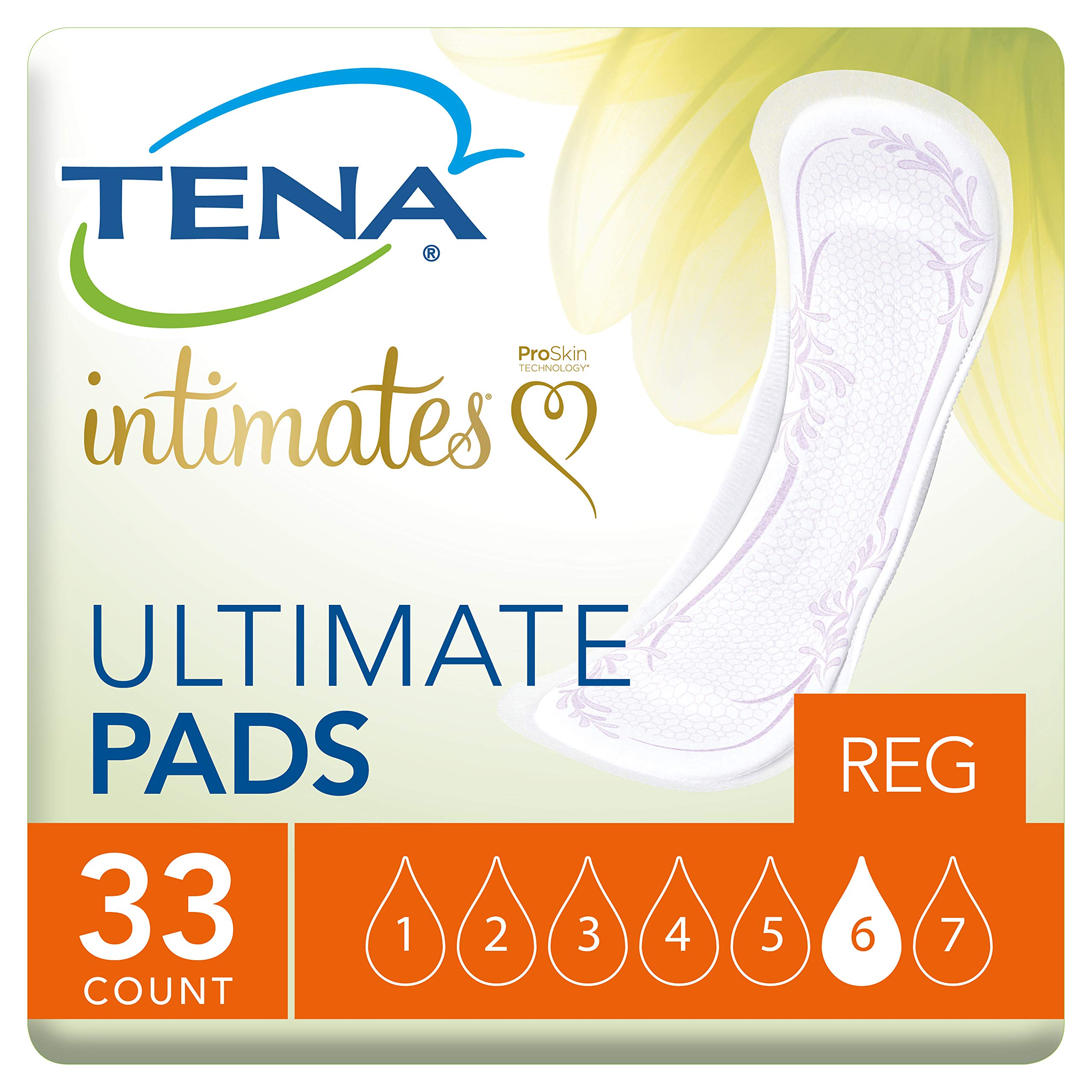 Tena Intimates Ultimate Incontinence Pad for Women, 33 Count, Pack of 3