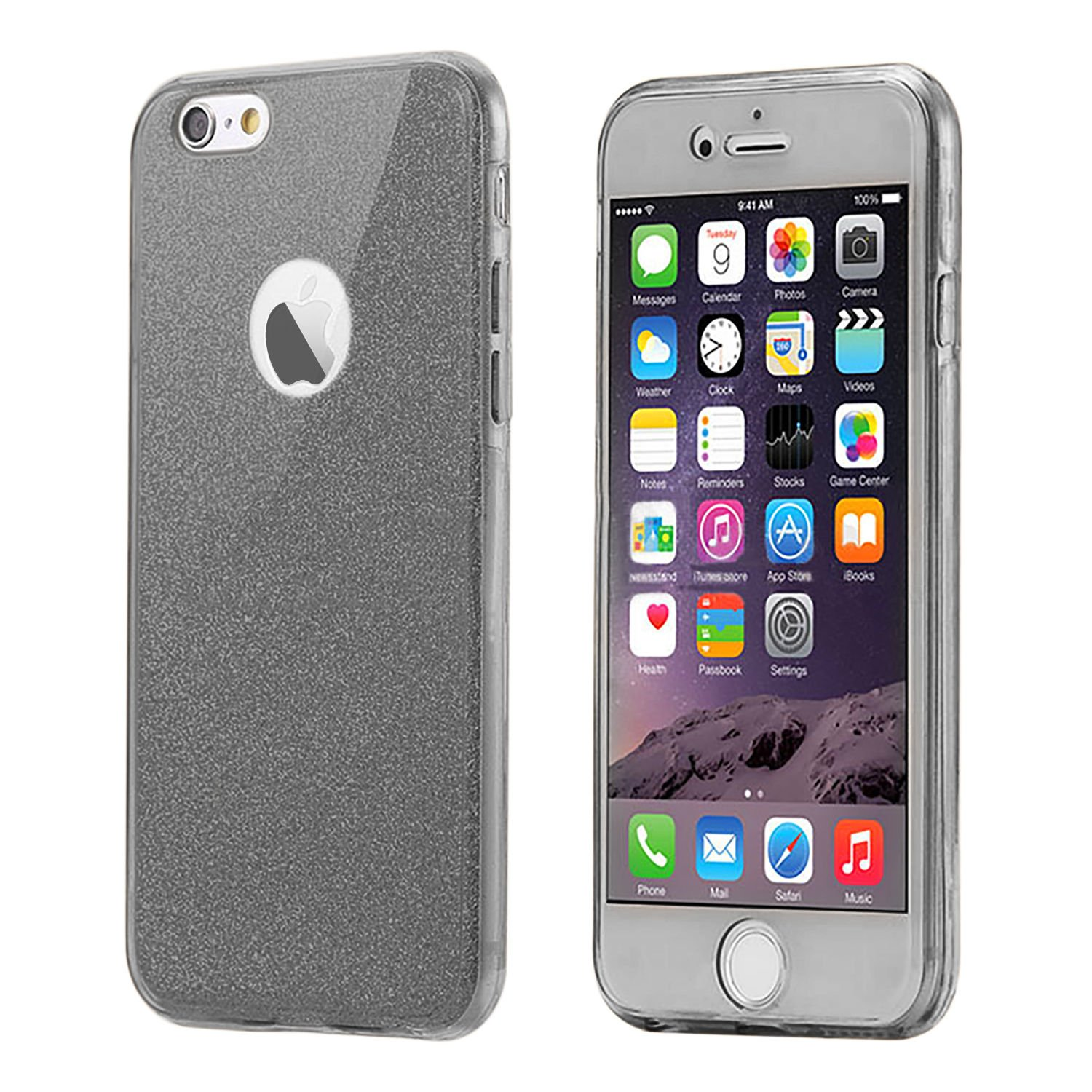 Connect Zone Cover Carbon Fiber Texture Design Back Cover Ultra Slim Anti-Scratch Shock Absorption Protective Soft TPU Silicone Bumper Case for iPhone 6|6s