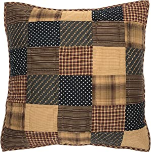 VHC Brands 7683 Patriotic Patch Euro Sham Quilted 26x26