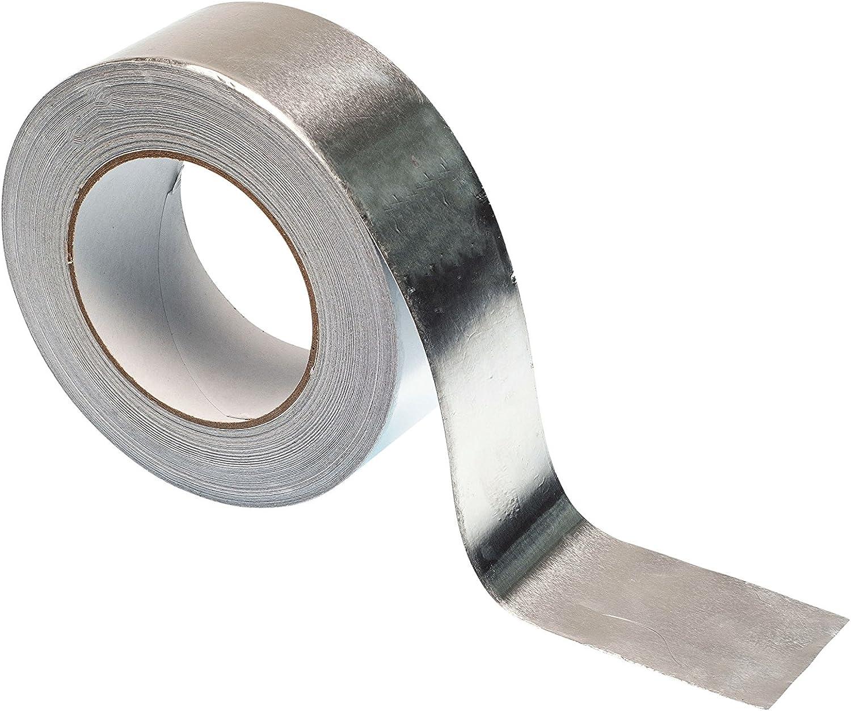 hochwertiges strapazierf/ähiges Klebeband von Gocableties silber Gocableties Aluminiumfolienklebeband 25 m x 48 mm