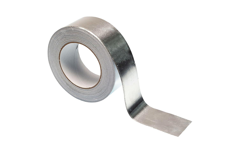Aluminio Foil cinta adhesiva –  rollo de 50 m –  Premium resistente de alta calidad por gocableties, plateado