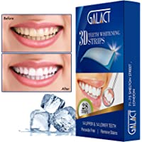 3D Teeth whitening Strips by Galact -28 Strips-Dental Enamel Safe Treatment for Crystal Smile Non-Peroxide - Remover of Teeth Stain - Mint Flavor - Formulated by UK Dentists