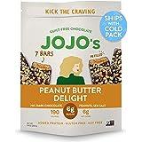 JOJO's Dark Chocolate Bars with Plant Based Protein, Low Sugar, Low Carb, Vegan, Paleo & Keto Friendly, Healthy Snack, Peanut