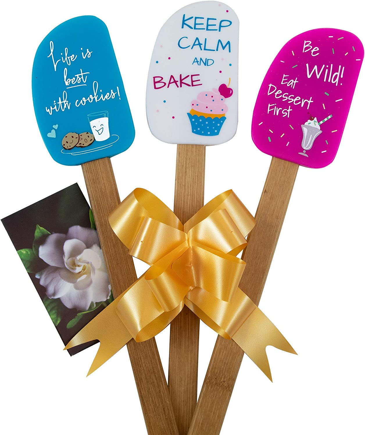 3-piece fun silicone spatula gift set.