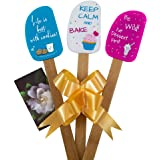 3 Piece Fun Silicone Spatula Gift Set with lovely bow and photo gift card. Easy clean, durable, high temperature and stain re