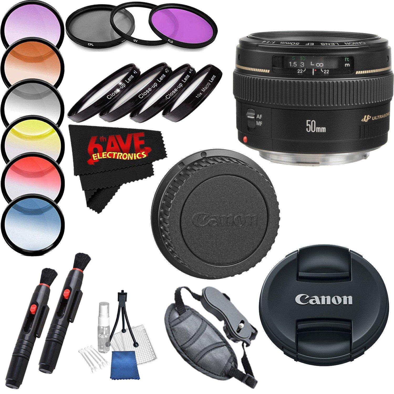 Canon EF 50mm f/1.4 USM Lens International Version Professional Accessory Combo