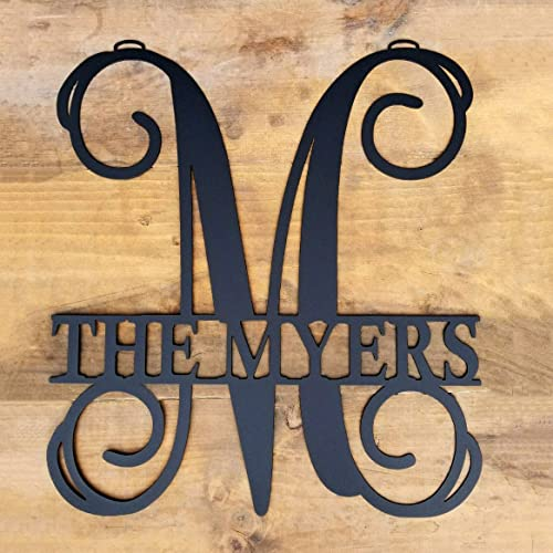 Personalized Metal Monogram Letter Customized Door Hanger Monogram & Amazon.com: Personalized Metal Monogram Letter Customized Door ...