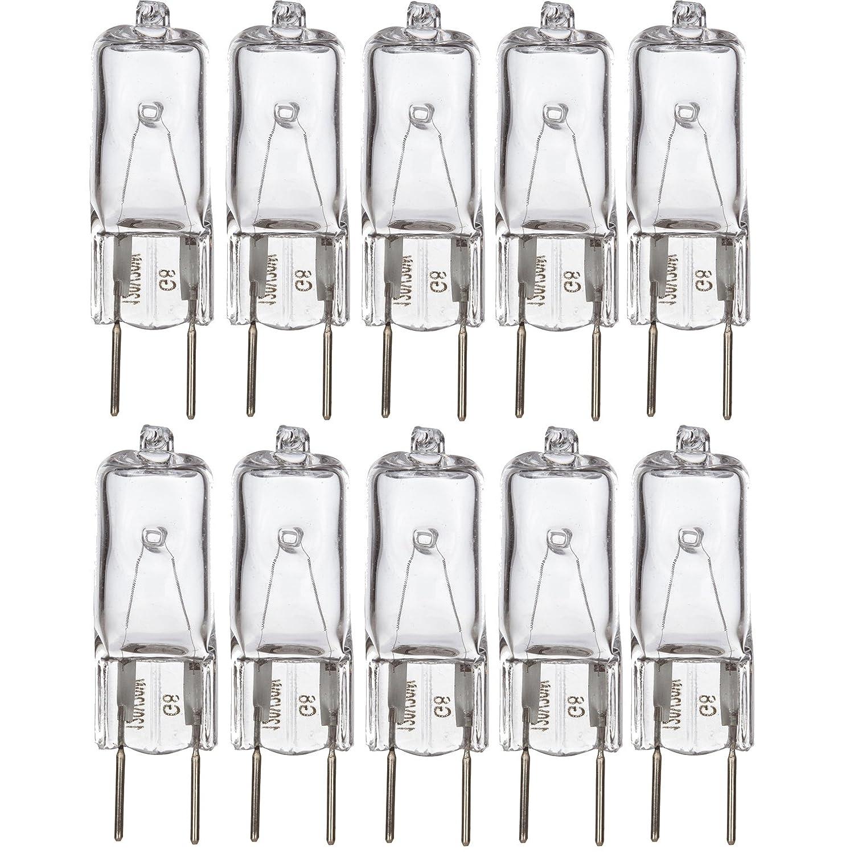 [10 Pack] Simba LightingTM 50 Watt 120 Volt Halogen Light Bulbs G8 Base Bi-Pin 120V 50W T4 JCD Lamp Soft White