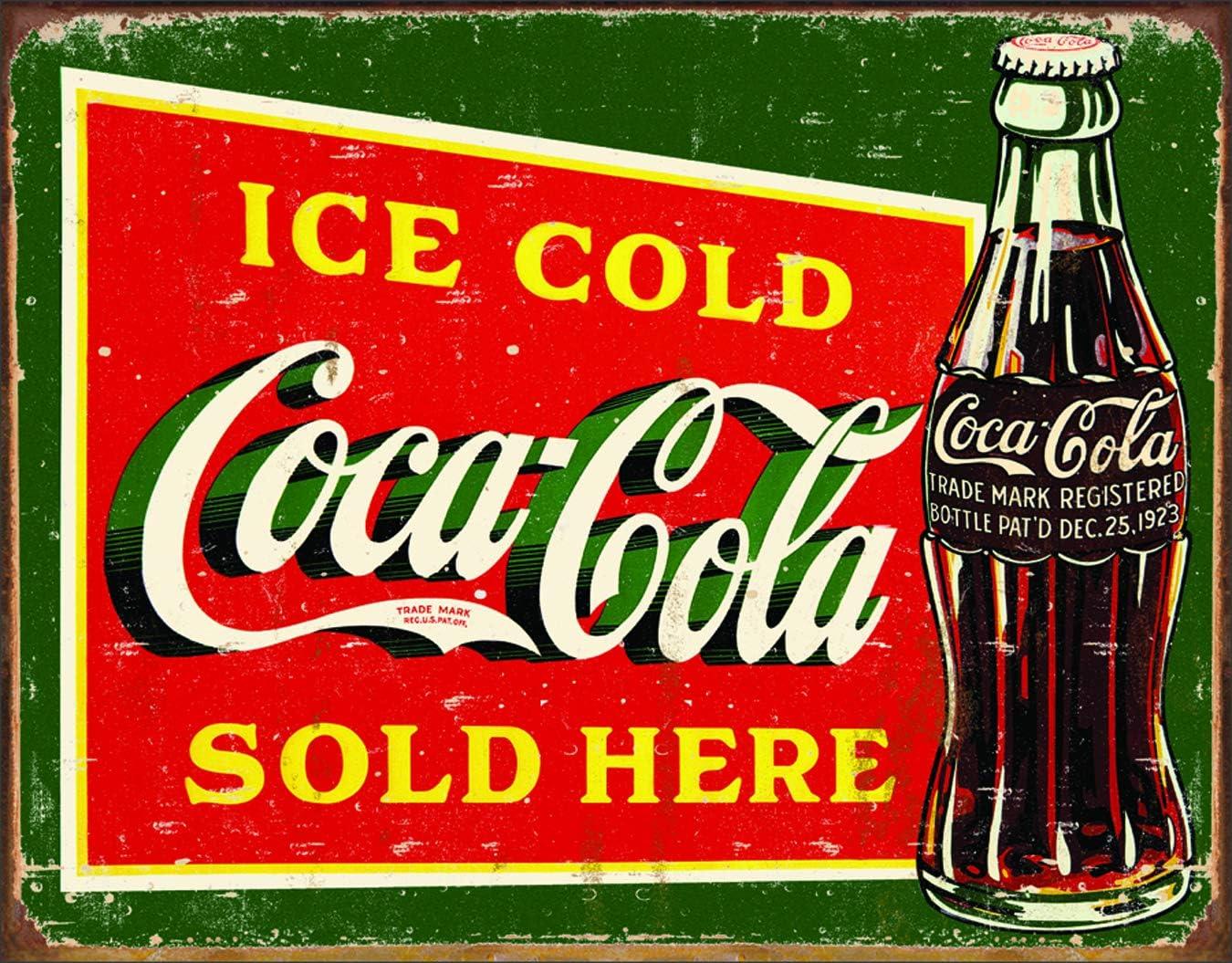 NEW UNUSED Coca Cola Classic Santa Claus Ad Tin Sign Reproduction