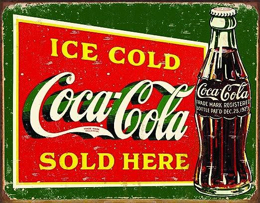 Coka Cola style sign wooden coke badge rustic man cave bar pub plaque