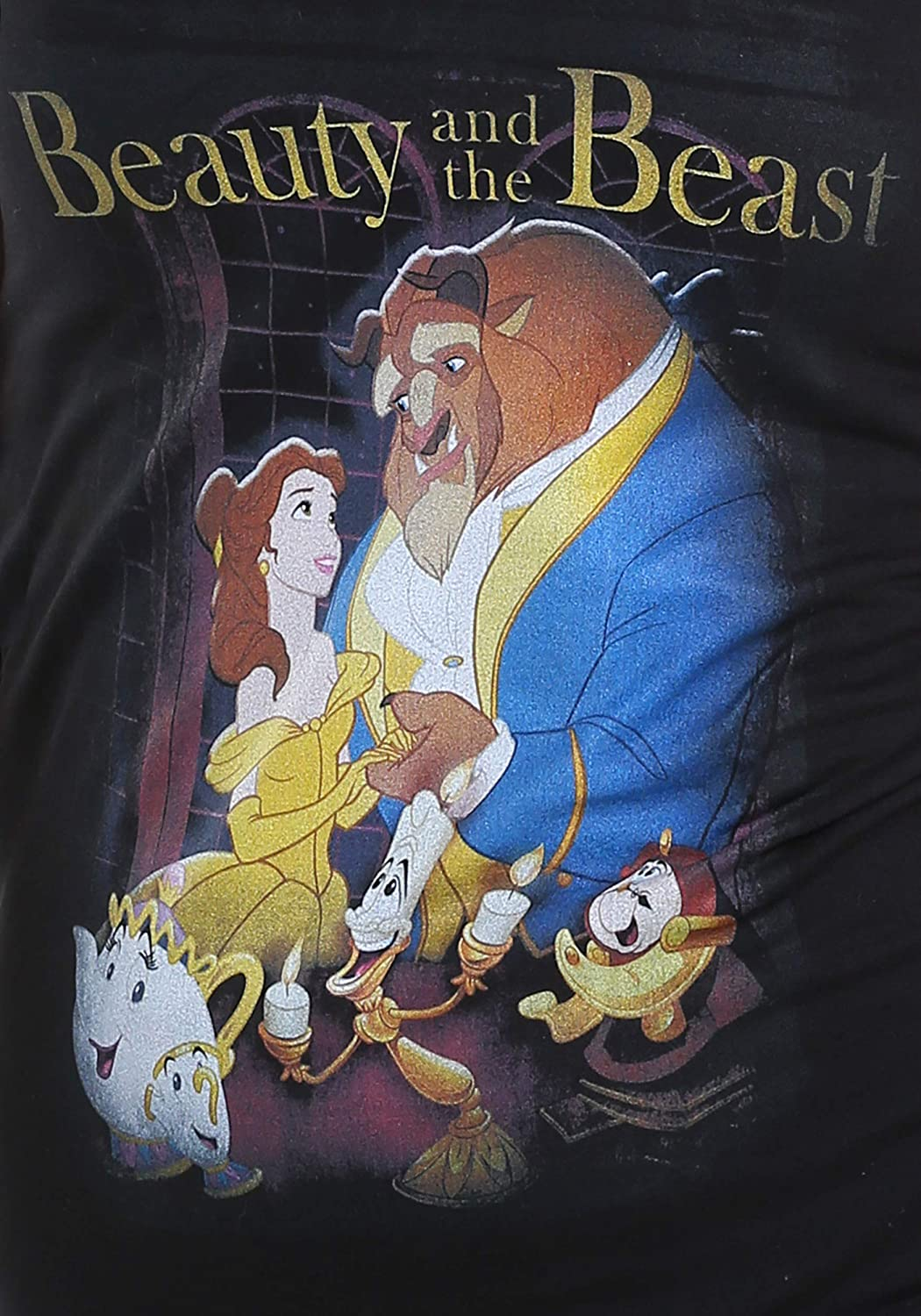 Fifth Sun Beauty and The Beast Poster Juniors V-Neck Tee
