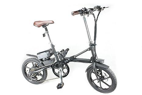 Bicicleta eléctrica plegable® KwiKfold marchas Shimano, color Negro - negro, tamaño 18: Amazon.es: Deportes y aire libre