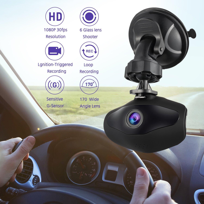 Sendowtek Overhead Video Car Camcorder Full HD 1296P Mini Dashboard Cam Vehicle Recorder IPS Screen with G Sensor Motion Detection Loop Recording Parking Mode 4332965184 On Dash Camera