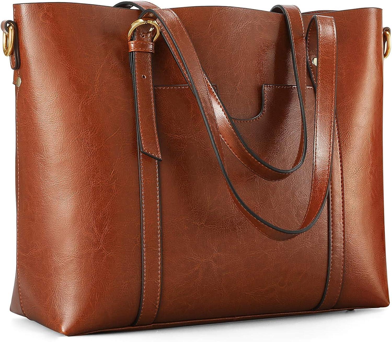 Kattee Leather Satchel Purses and Handbags for Women, Top Handle Shoulder Purse Tote Hobo Bag