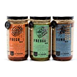 LA FUNDIDORA All Natural Authentic Traditional Mexican Salsa, 3 Pack (Fresca, Humo, and Fuego)