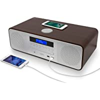 AUDIBLE FIDELITY Complete Hi-Fi DAB/DAB+ Stereo System CD Player with Speakers, Wireless Charging & USB Charging…