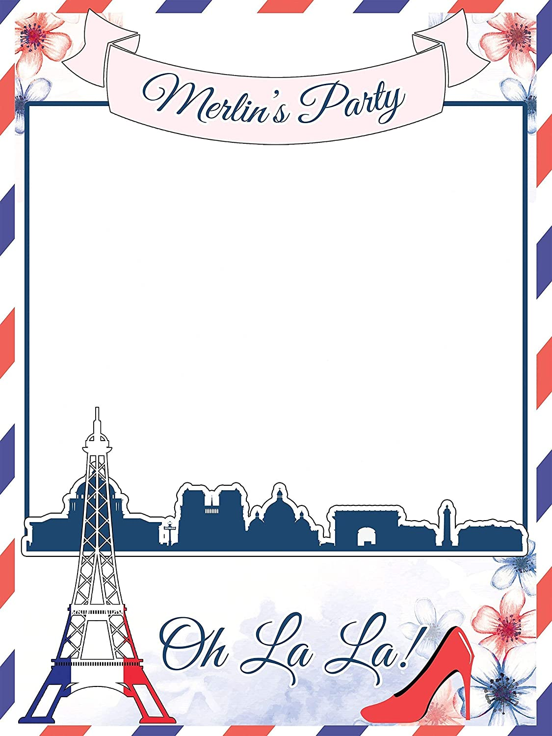 Custom Paris Photo Booth Prop - Sizes 36x24, 48x36; Personalized ...