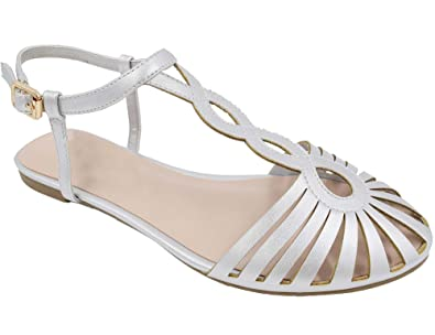 a91b08f07ccb5e MaxMuxun Silver Comfort Ankle Strap Closed Toe Womens Sandals Size 5