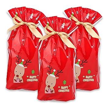 Bolsas de regalo de navidad, 50pcs paquete de regalo del ...