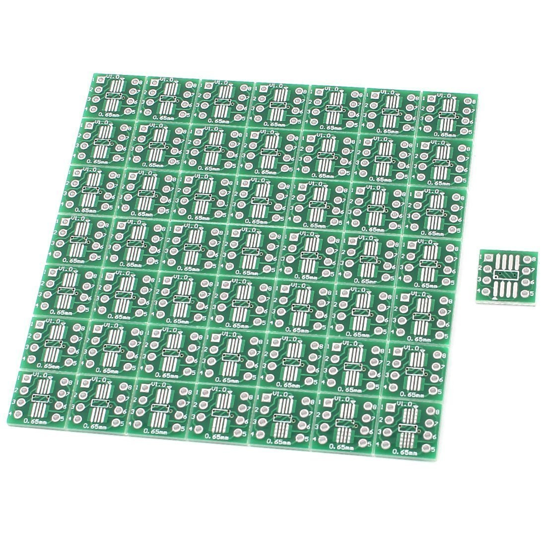50Pcs SOP8 SSOP8 TSSOP8 SMD To DIP8 Adapter 0.65//1.27mm PCB Board