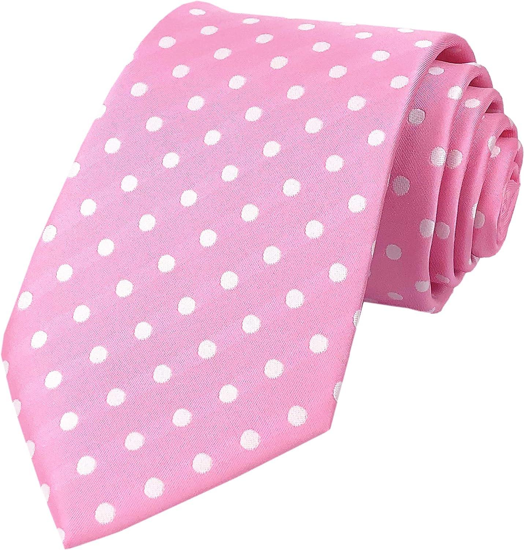 Mens Classic Polka Dot Ties Jacquard Woven Casual Handmade Daily Formal Necktie