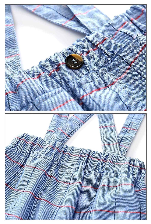 d3ffddce7 Infant Boy 2pcs Formal Wear Gentlemen Rompers Outfit Long Sleeve ...