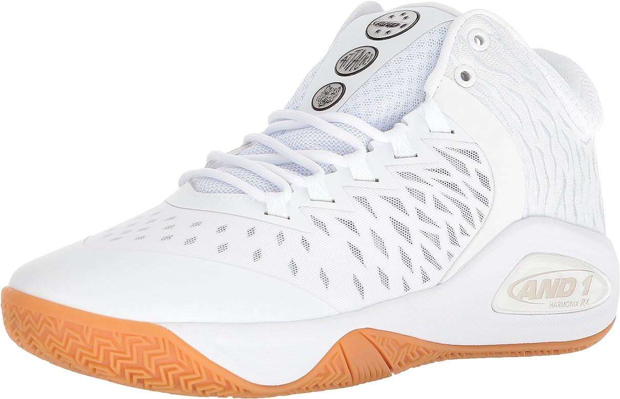 c9e0a32c98c AND1 Men s Attack Mid Basketball Shoe White Super foil Gum 7 ...