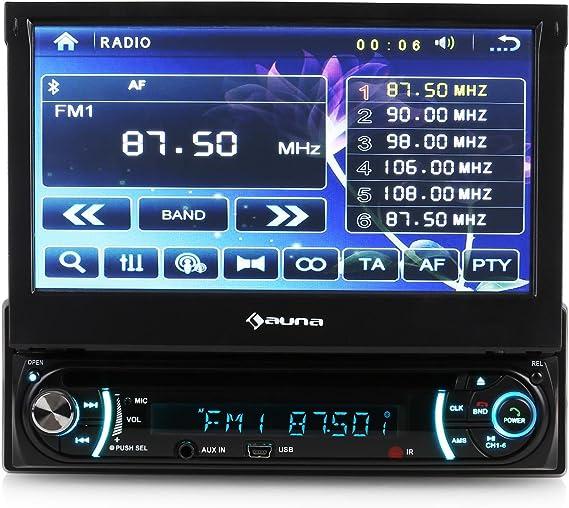 Auna Mzv Autoradio Moniceiver Mp3 Player Cd Dvd Player Display 18 Cm 7 Zoll Touchscreen Bluetooth Usb Eingang Sd Karte Elektronik