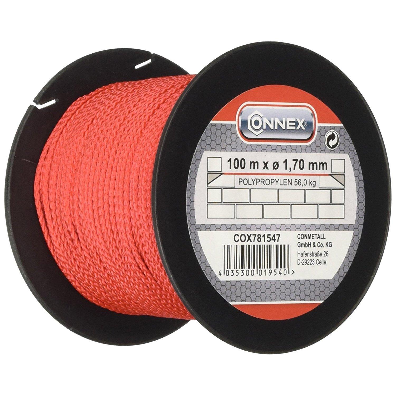 Connex Cox781547 1 7 100m Max 60 Kg Masons S Lacing Cord Red