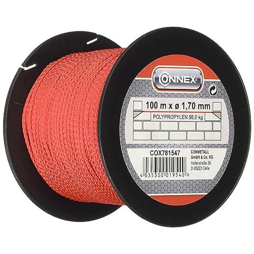 CONNEX COX781547 1.7/ 100m Max 60 kg Masons's Lacing Cord - Red