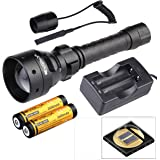 Evolva Future Technology T50 IR 50mm Lens Infrared Flashlight Night Vision Torch Light - Infrared Light is Invisible to Human Eyes (Torch+Battery+Charger+Pressure Switch)