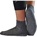 Non-slip, Anti-Slip, Anti-skid Grip Socks for Hospital, Yoga, Barre, Pilates use Men and Women by GrippyPlus