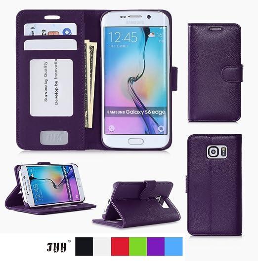 185 opinioni per Custodia Galaxy S6 Edge, Cover Galaxy S6 Edge, Fyy® Custodia a Portafoglio con
