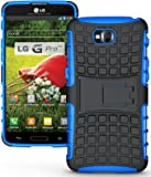Heartly Flip Kick Stand Hard Dual Armor Hybrid Rugged Bumper Back Case Cover For LG G Pro Lite D680 D686 - Blue