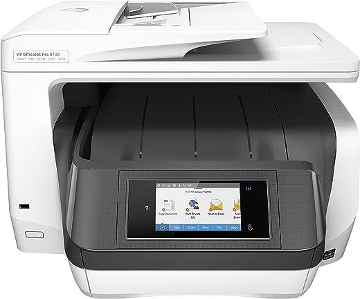 HP OfficeJet Pro 8730 All-in-One Printer, Draadloze Wifi kleuren inktjet printer voor thuis (Printen, kopiëren, scannen, faxen)