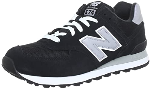 New Balance Mens 574 Classic Traditionals Walking Running Sneakers - Black - 6.5