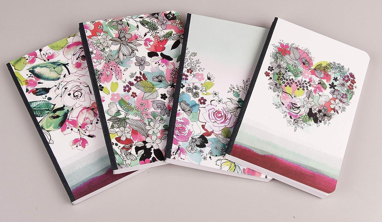 elegant und robust aus Kunstleder 1 St/ück 20 x 2 x 10,5cm Motive sortiert Clairefontaine 115579C Portemonnaie Blooming
