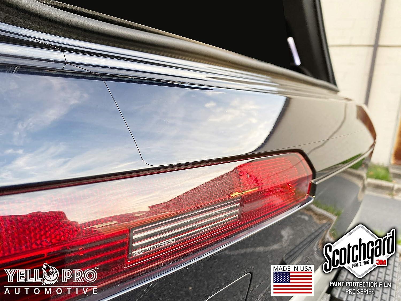 YelloPro Custom Fit Rear Trunk Bumper Edge 3M Scotchgard Paint Protector Film Anti Scratch Clear Bra Guard Cover Self Healing PPF Kit for 2019 2020 Honda Civic LX EX EX-L Sport Touring Sedan