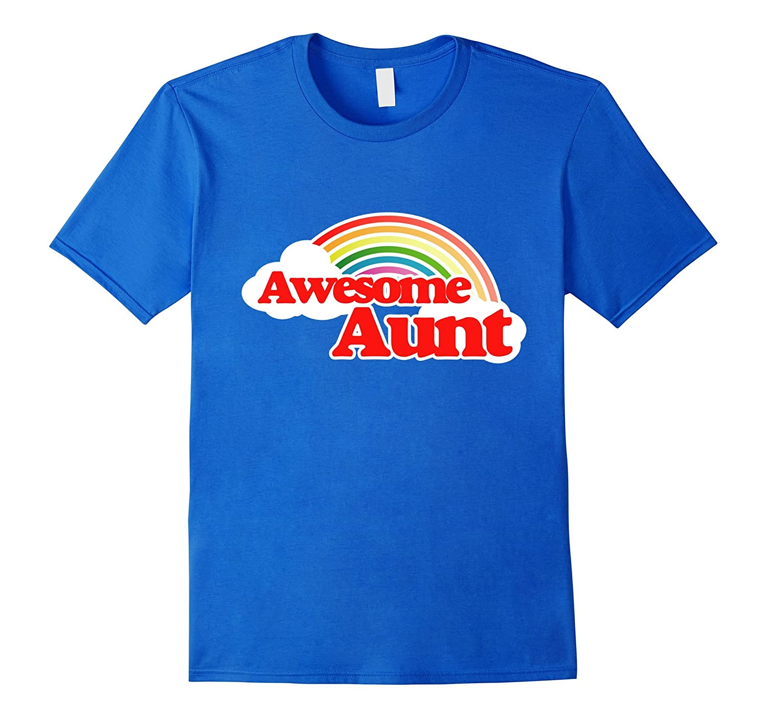 Awesome Aunt shirt retro 80s rainbow new aunts t-shirt-TD