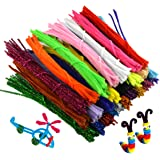 Pistha 750pcs Craft Pipe Cleaners 6mmx12inch Reusable Chenille Wire Stem Craft Bendable Twistable Children Puzzle DIY Kindergarten Handmade Art Supplies Assorted Colors Early Education