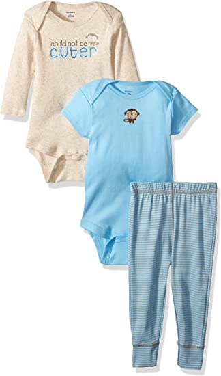 Short Sl Set of 4 BLUE GERBER ONESIS Baby Boy/'s BRAND NEW Size 0//3 mo