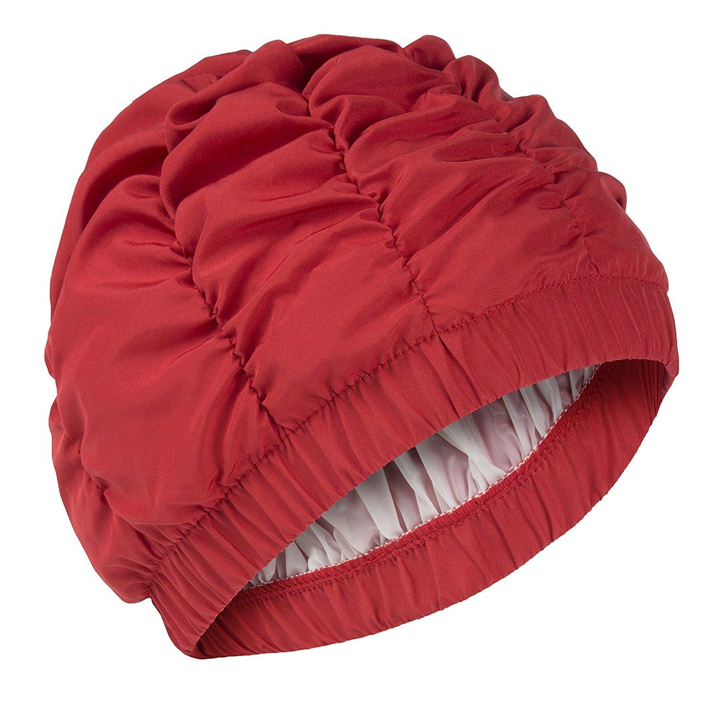 Fashy-Cuffia da doccia da donna, colore: rosso 2630 40