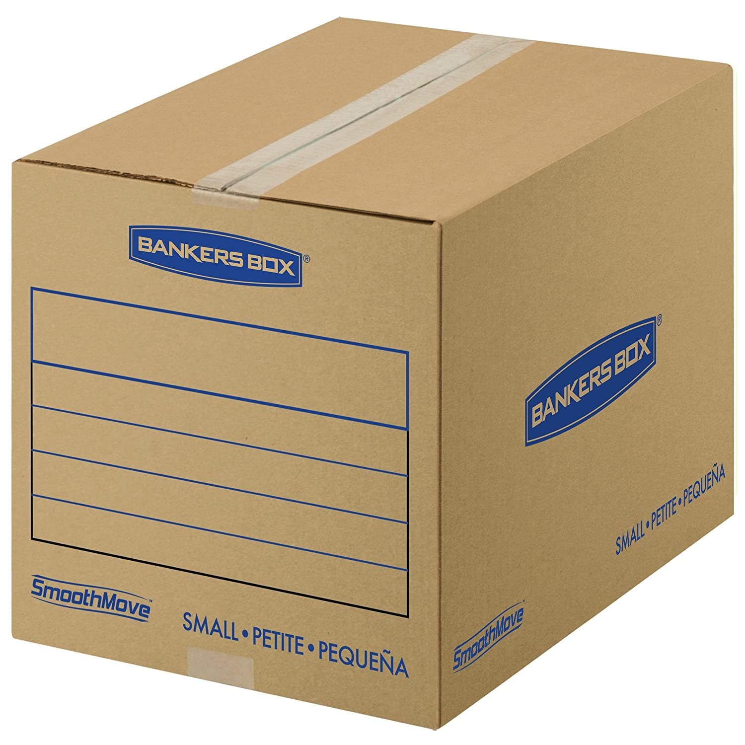 Bankers Box SmoothMove Basic Moving Boxes, Medium, 18 x 18 x 16 Inches, 10-Pack (7713902) Fellowes
