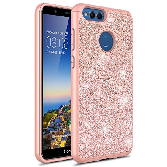 new style 5dcc7 594c5 Huawei Honor 7X Case, Torryka Sparkle Glitter Bling Cute Fashinon Hybird  Luxury Shinning Design Women Girls Lady Anti Scratch Protective Shockproof  ...
