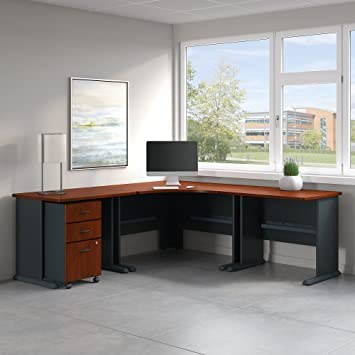 Charming Series A 84W X 84D Corner Desk With Mobile File Cabinet