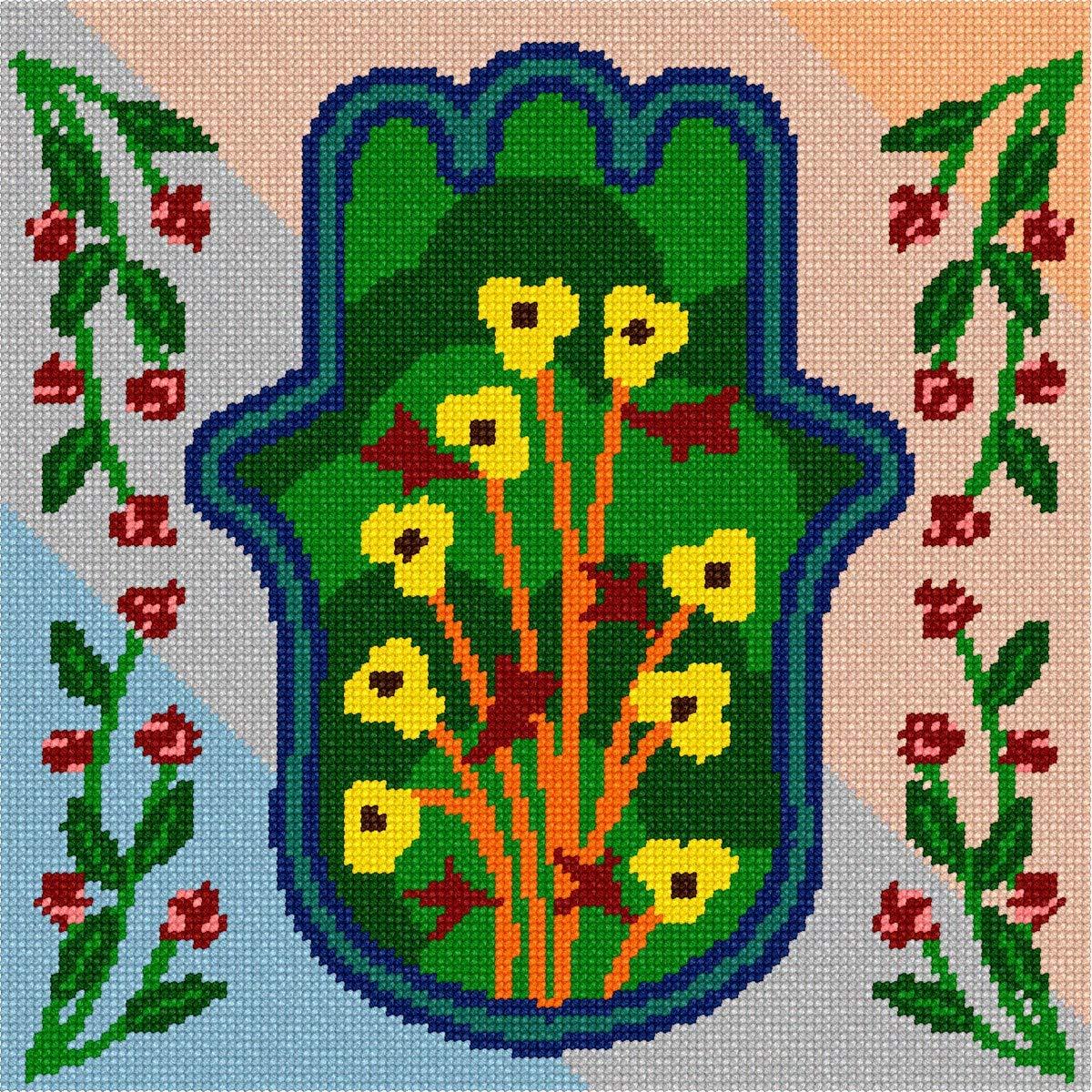 pepita Hamsa Floral Needlepoint Kit by pepita
