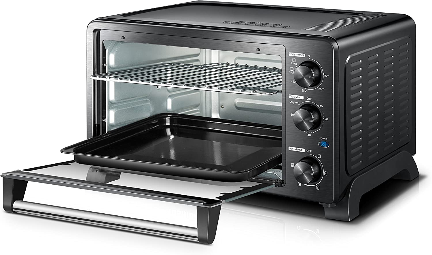 Amazon.com: Toshiba MC25CEY-BS Convection Oven, 6-Slice ...