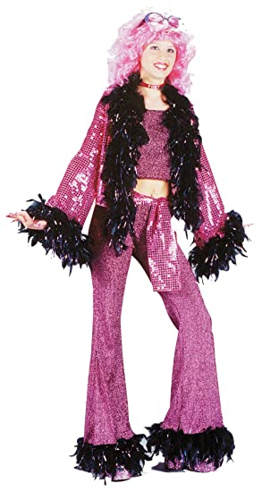 UHC Teen Girl\u0027s Disco Diva Outfit Retro Dance Theme Party Halloween Costume,